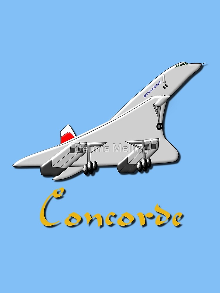A Supersonic Concorde design by Dennis Melling