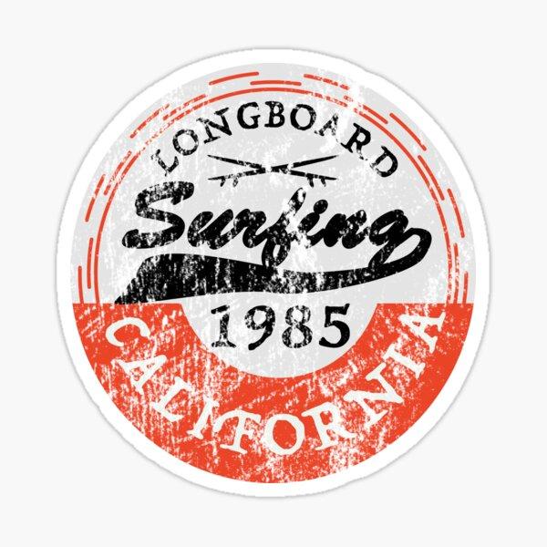 Vintage Surf Sticker Longboard Surfing California Pegatina