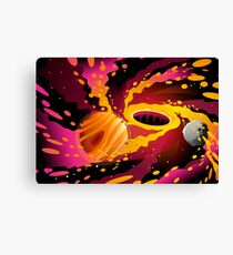 black hole in the space Canvas Print