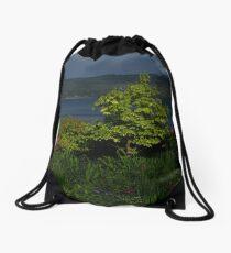 Garden View of Loch Fyne Drawstring Bag