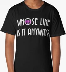 Vintage Whose Line Is It Anyway Logo Long T-Shirt