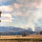 Smoke in the King Valley, Victoria by Christine Smith