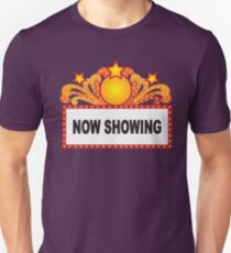 Retro Marquee Sign with Lights Illustration T-Shirt