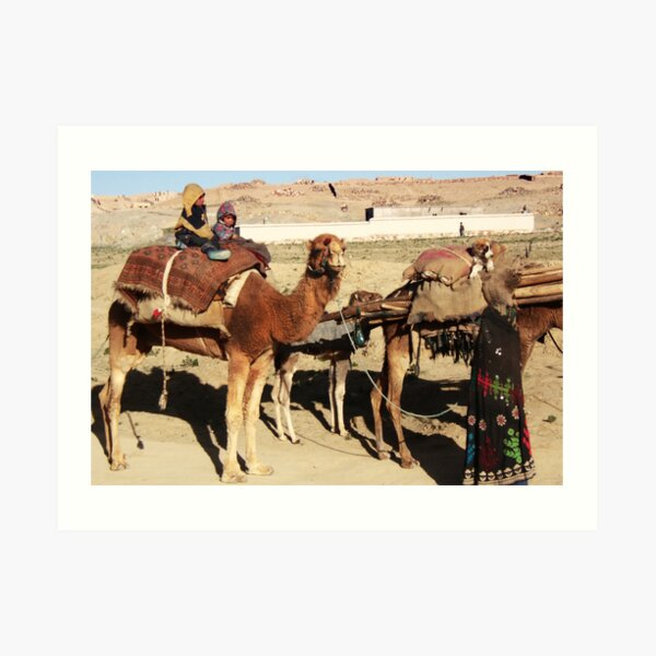 Family of wandering tribes (Afghanistan) Art Print