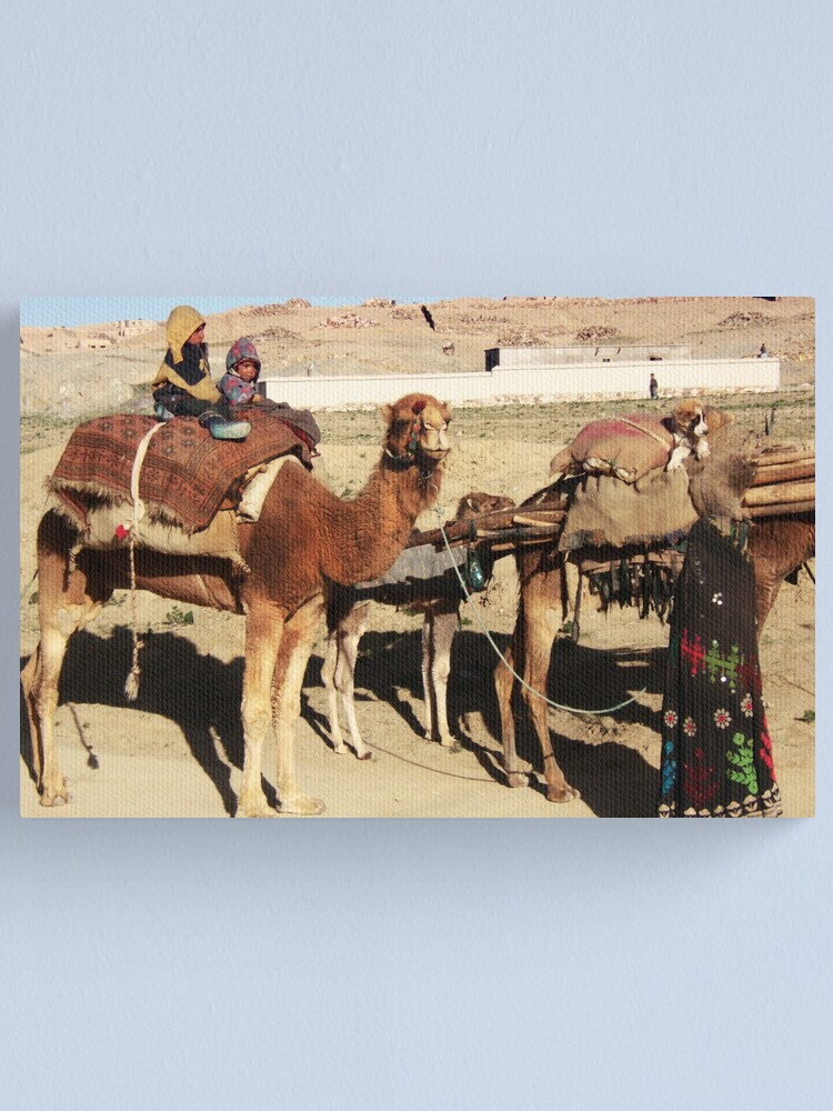 Alternate view of Family of wandering tribes (Afghanistan) Canvas Print