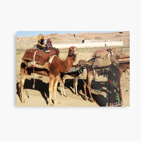 Family of wandering tribes (Afghanistan) Metal Print