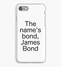 James bond quote iPhone Case/Skin