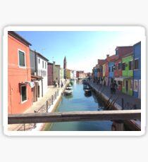 Village in Burano, Venice Sticker