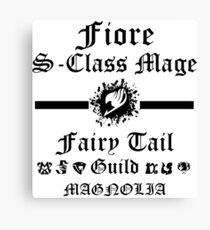 S-Class mage Fairy Tail Shirt Canvas Print