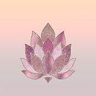 Elegant Glamorous Pink Pastel Lotus Flower by artsandsoul