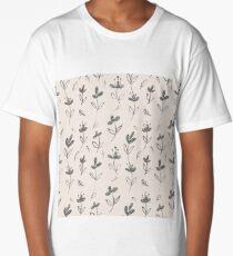 Floral Pattern Long T-Shirt