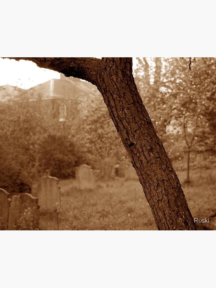 Graveyard at Dawn by Ruski