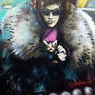 Street Art Scaredy Cat by howieb101