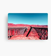 bridge in the desert with blue sky in the USA Canvas Print