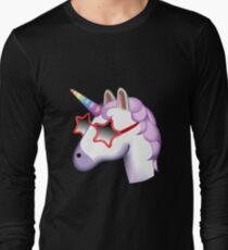 Unicorn Startstruck Emoji  Long Sleeve T-Shirt