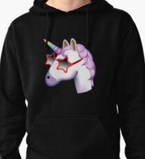 Unicorn Startstruck Emoji  Pullover Hoodie