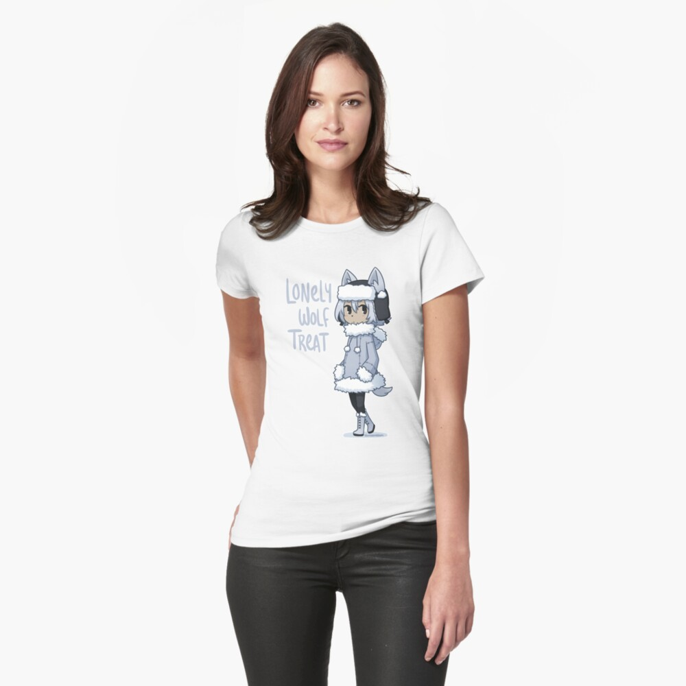 Lonely Wolf Treat Womens T-Shirt Front