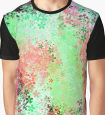 flower pattern abstract background in green pink purple blue Graphic T-Shirt
