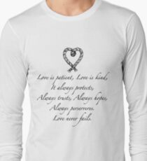 Love is patient, love is kind Long Sleeve T-Shirt