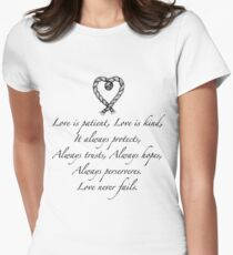 Love is patient, love is kind Women's Fitted T-Shirt