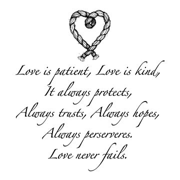 Love is patient, love is kind by stylecomfy