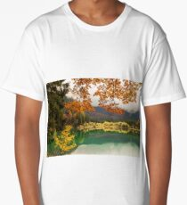Autumn morning in the alps Long T-Shirt