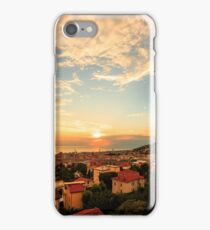sunset on the city of Trieste iPhone Case/Skin