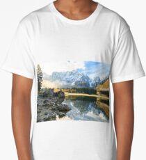 autumn sunrise at the alpine lake Long T-Shirt