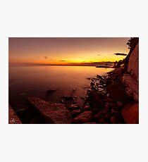 Sunset at the sea, Trieste Photographic Print