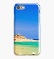 The beach of Chia su Giudeu, Sardinia iPhone Case/Skin