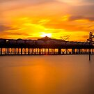 Sunset over Herne Bay Pier by Dave Hare