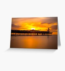 Sunset over Herne Bay Pier Greeting Card