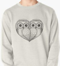 Owl sketch - Love Birds Pullover