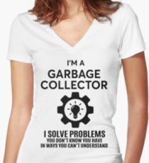 GARBAGE COLLECTOR - NICE DESIGN 2017 Women's Fitted V-Neck T-Shirt