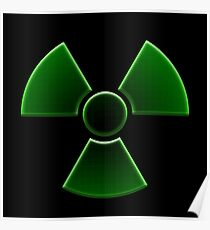 New Nuclear Symbol (Green) Poster