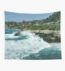 La Jolla California - Pacific Ocean Power Shaping the Coast Wall Tapestry