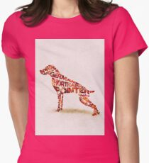German Shorthaired Pointer Typographic Watercolor Painting T-Shirt