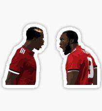 Paul Pogba and Romelu Lukaku - Manchester United fc Sticker