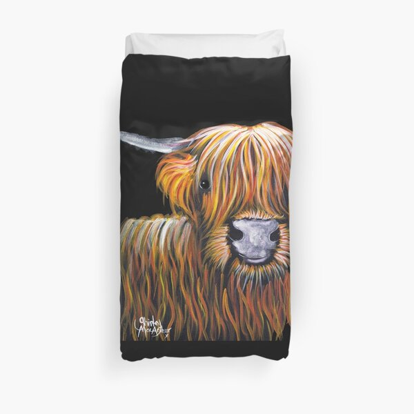 HIGHLAND COW PRiNT ' JOCK ' By Shirley MacArthur Duvet Cover