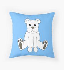 Cute Polar Bear Throw Pillow