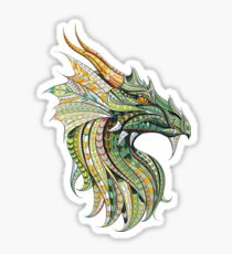 Chinese Dragon Monster Colorful Vector Sticker
