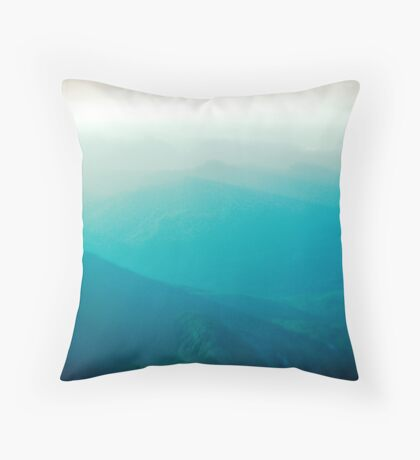 Vancouver Island from the air Throw Pillow