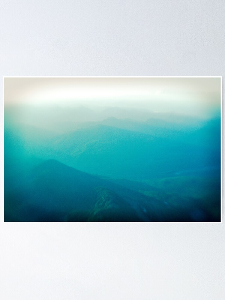 Alternate view of Vancouver Island from the air Poster