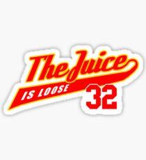 JUICE IS LOOSE 32 - ALL STAR AMERICAN FOOTBALL TEE  Sticker