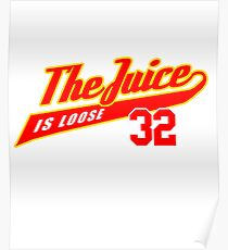 JUICE IS LOOSE 32 - ALL STAR AMERICAN FOOTBALL TEE  Poster