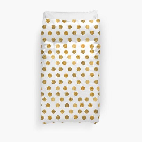 Gold Polka Dot Pattern Duvet Cover