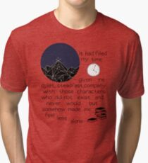 somehow made me feel less alone ACOMAF quote Tri-blend T-Shirt