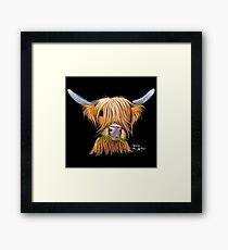 HIGHLAND COW ' LITTLE VIKING ' By Shirley MacArthur Framed Print