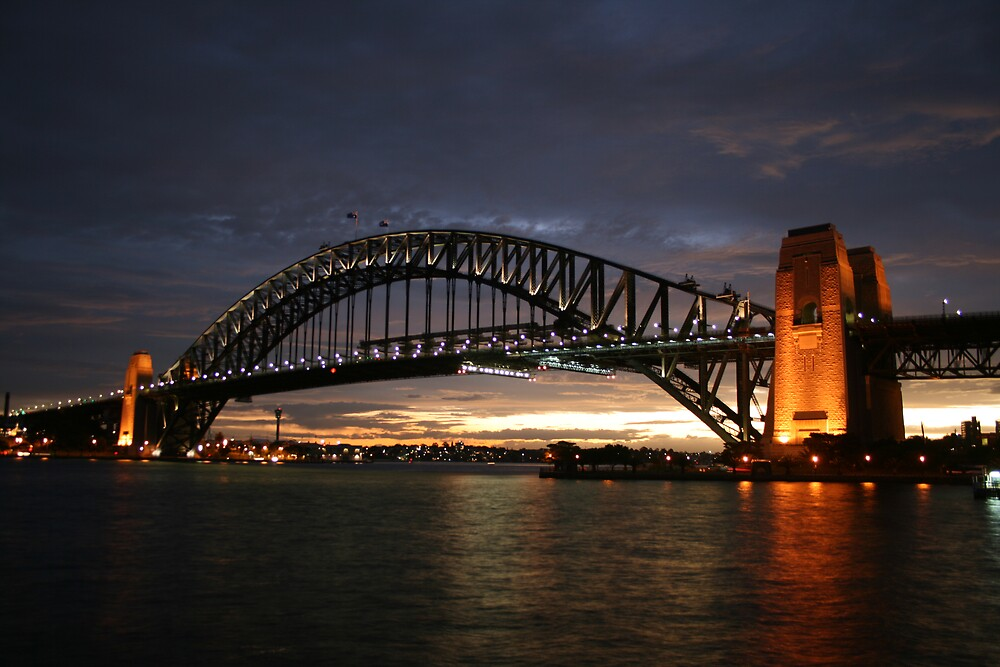 Sydney Harbour Bridge at Sunset by Beamer