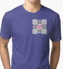 Companion Cube - Portal Tri-blend T-Shirt